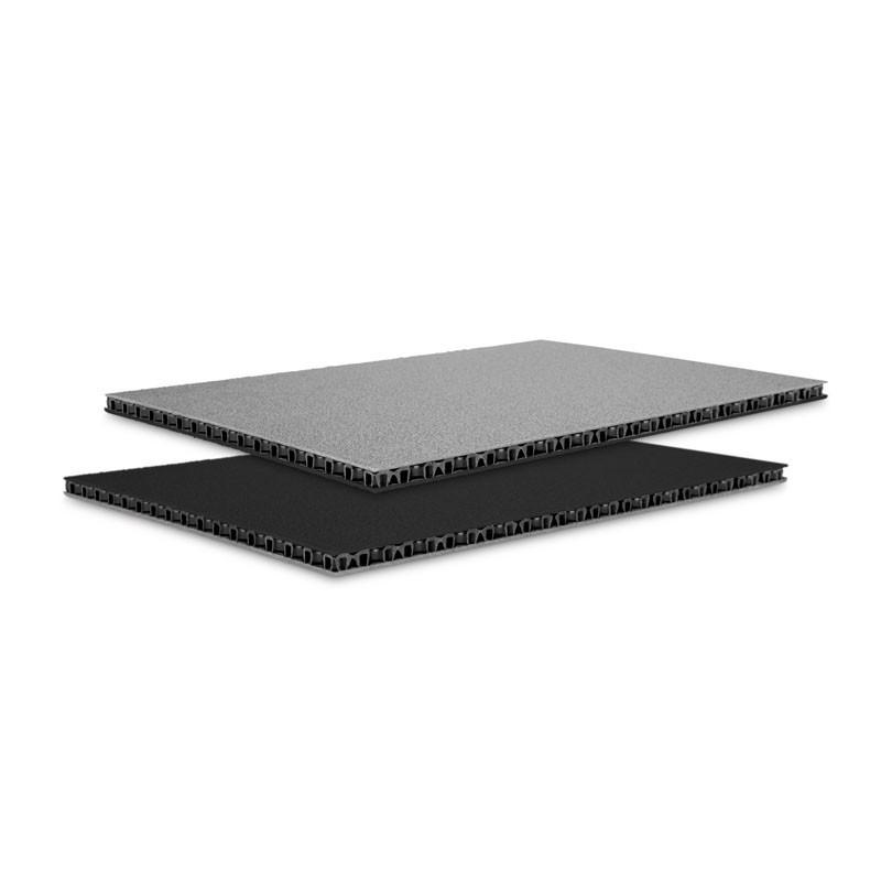 Panneau alvéolaire en polypropylène SolidLite® argent / noir 6,8 mm, 2500 x 1250 mm