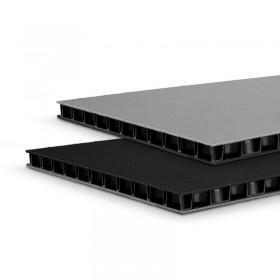 Panneau alvéolaire en polypropylène SolidLite® noir / gris 9,4 mm, 2500 x 1250 mm