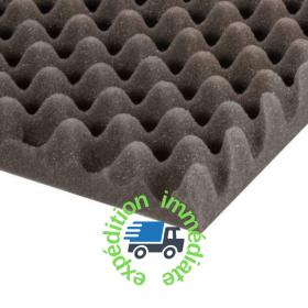 mousse alvéolée grise de dimensions 2000 par 1000mm épaisseur 30mm pour rembourrage de protection ou isolation phonique