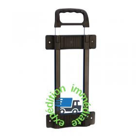 Poignée télescopique en plastique noire avec une barre de longueur 475 par 820mm -Vue de face