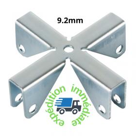 Croix pour cloisons de séparation en acier galvanisé d'épaisseur 9.2mm