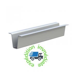 Patin de palettisation en aluminium, hauteur 90mm, en barre de 2m
