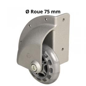 Roulette en Coin à Bandage souple 75 mm