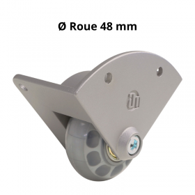 Roulette d'angle 48 mm Fixation alu moulé sous pression