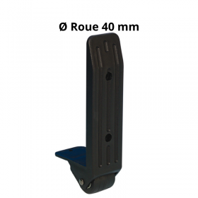 Roulette d'Angle nylon 40 mm