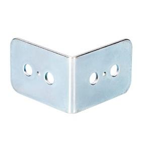 Renfort d'angle en acier galvanisé avec passage de profilé de dimensions 25 par 37mm
