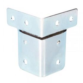 Renfort d'angle en acier galvanisé avec passage de profilé de dimensions 50 par 60mm