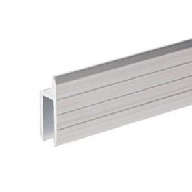 Profilé aluminium en h pour Portes de Service matériau 7 mm