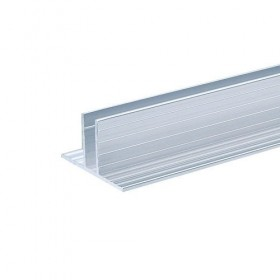 Profilé aluminium Base pour Parois Séparatrices pour matériau 7 mm