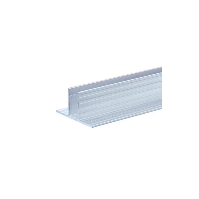 Profilé aluminium Base pour Parois Séparatrices pour matériau 9,5 mm