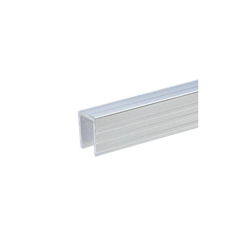 Profilé aluminium de Recouvrement pour Parois Séparatrices pour matériau 9,5 mm