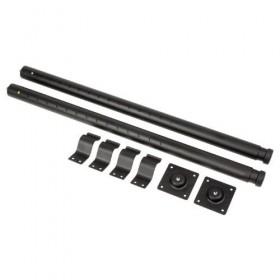 Jeu de pieds de table télescopique pour rack, 73 - 118 cm extensible